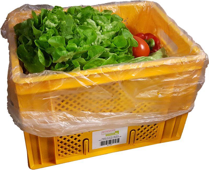 Plastiktüten in der Gemüsekiste
